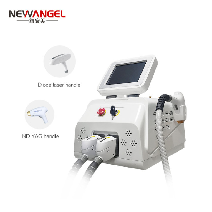 3 wavelength laser hair removal machine q switch nd yag tattoo removal salon use