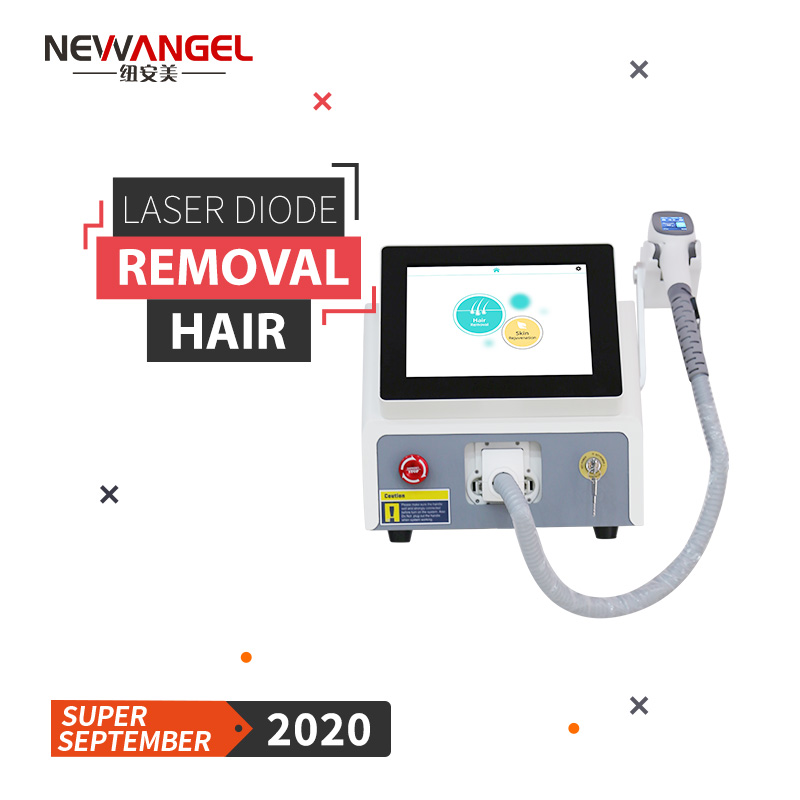 portable diode laser hair removal machine 808nm Professional beauty 3 wavelength depilation skin rejuvenation painless
