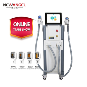 Permanent chest hair removaldiode laser machine 1000w two handles