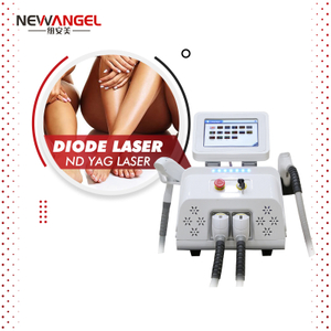 Q Switched Nd Yag Laser Tattoo Removal Diode 808nm Laser Hair Removal Machine CE Approved Spa Use Skin Rejuvenation