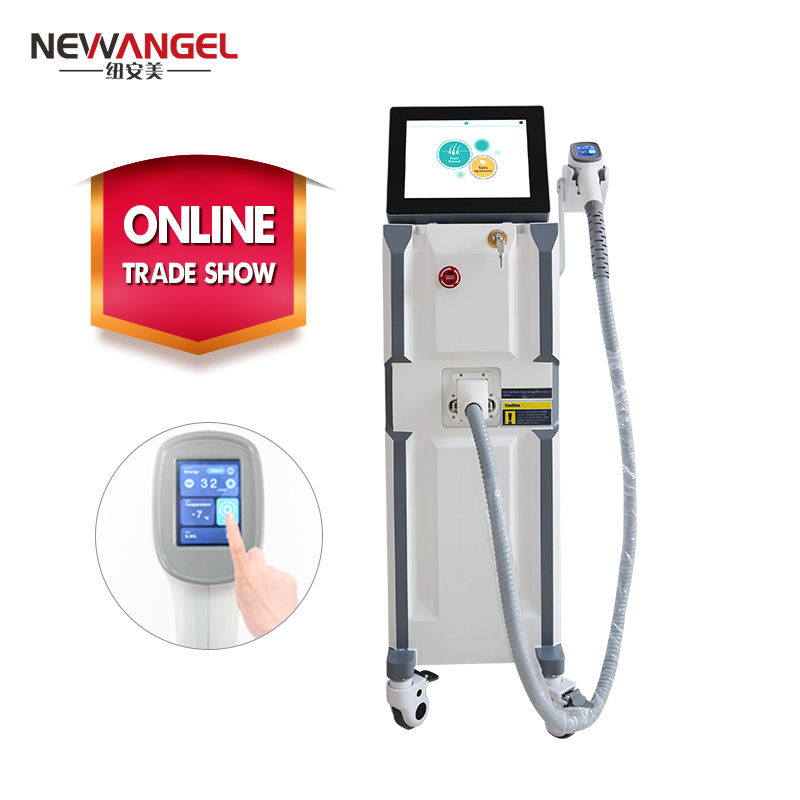 Medical grade laser hair removal beauty machine 3 wavelengths 808nm 755nm 1064nm