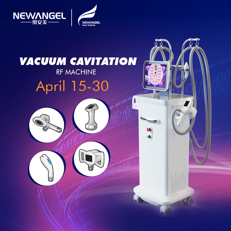 Body Slimming Fat Remove Rf Cavitation Vacuum Beauty Machine Newest Salon Use 4 Heads Available Skin Tightening
