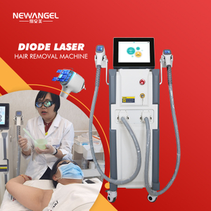 Latest laser machine hair removal with 2 handles working simultaneously