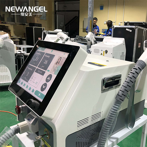 Big screen on handl high power laser machine for hair removal