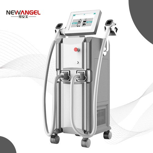 Professional laser hair removal machines with 2 handle